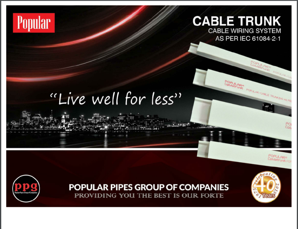 Popular Cable Trunking System Brochure