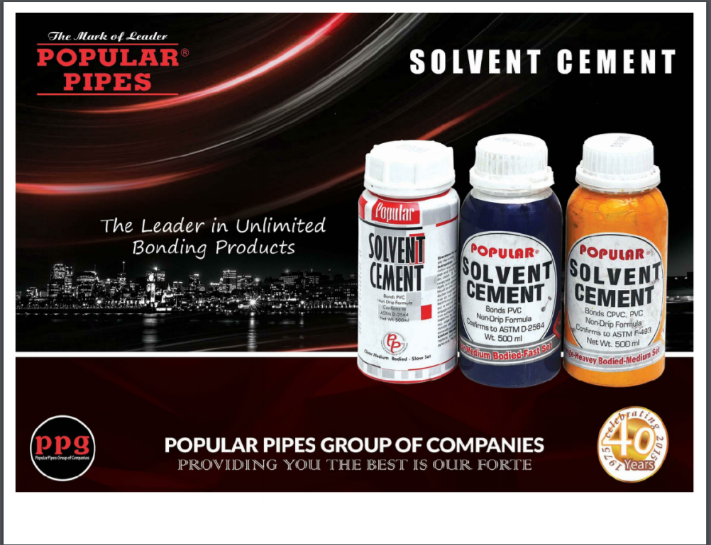 Popular Solvent Cement Brochure